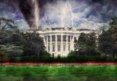 Destruição branca da casa imagem de stock royalty free