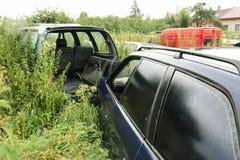 Destruição de carros velhos Fotografia de Stock Royalty Free