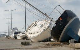 Destruição de Ike do furacão fotografia de stock