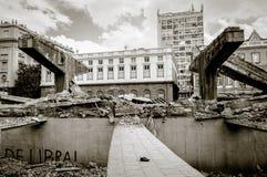 Destruição de Perimetral em RJ Fotografia de Stock