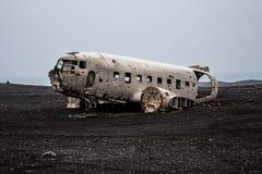 Destruição de um avião fotografia de stock royalty free