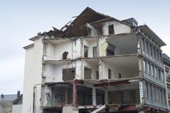 Destruição de um edifício Fotografia de Stock Royalty Free