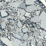 Destruição de um muro de cimento. restos ilustração do vetor