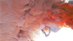 Destruição do azul nevado Gota da cor à propagação da cor filme