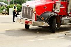 Destruição do caminhão Fotografia de Stock