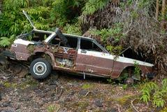 Destruição do carro fotografia de stock royalty free