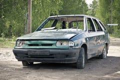 Destruição do carro Imagem de Stock Royalty Free