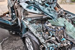 Destruição do carro Fotografia de Stock