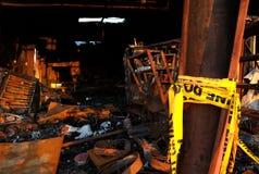 A destruição do incêndio 03 Fotografia de Stock