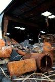 A destruição do incêndio 07 imagens de stock
