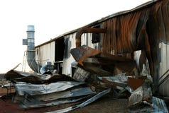A destruição do incêndio 10 foto de stock