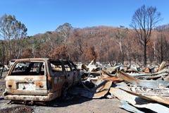 Destruição do incêndio Fotografia de Stock