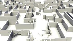 Destruição do labirinto ilustração stock