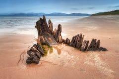 Destruição do navio do Sunbeam na praia de Rossbeigh Imagens de Stock Royalty Free
