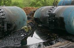 Destruição dos tanques de petróleo Fotografia de Stock Royalty Free