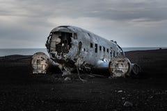 A destruição infame do plano DC-30 imagens de stock