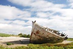 Destruição na praia Imagens de Stock