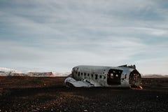 Destruição plana em Islândia Imagens de Stock Royalty Free