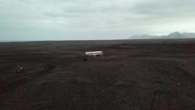 Destruição plana em Islândia filme