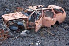 Destruição velha do carro Imagens de Stock Royalty Free