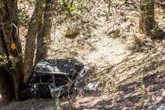 Destruição velha do carro Foto de Stock