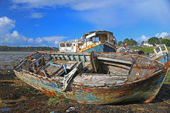 Destruições de barcos de pesca Imagens de Stock Royalty Free