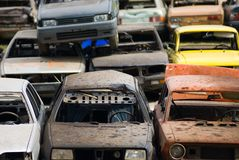 Destruições do carro Fotografia de Stock Royalty Free