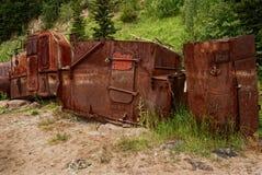 Destruições oxidadas, adaptadas para o celeiro, com contraste tonal do filtro Imagem de Stock Royalty Free