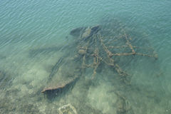 Destruições sob o mar Fotografia de Stock Royalty Free