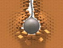 Destruindo a esfera ilustração stock