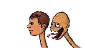 Destruktiv kritik och avundillustration stock illustrationer
