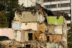 Destruyó la casa vieja Foto de archivo libre de regalías