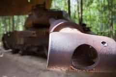 Destruyó un tanque americano Imagenes de archivo