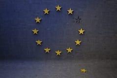 Desunión euro Imagen de archivo libre de regalías