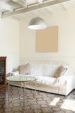 Desván agradable, sala de estar Foto de archivo