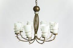 Desván Olive White Plafonds de la lámpara foto de archivo