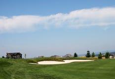 Trampa de arena del campo de golf imagen de archivo