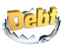 Desvío de la deuda Imagenes de archivo