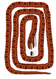 Desvío de la serpiente Imágenes de archivo libres de regalías