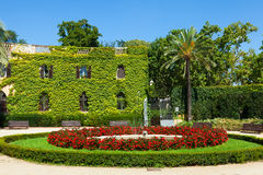 Desvalls Palace at Labyrinth Park in Barcelona. Stock Photography
