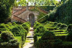 Desvalls Palace at Labyrinth Park of Horta Stock Images