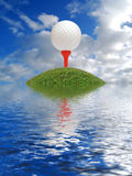 Desvantagem do golfe Imagem de Stock Royalty Free