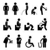 Desvantagem grávida do banheiro do toalete Fotografia de Stock Royalty Free