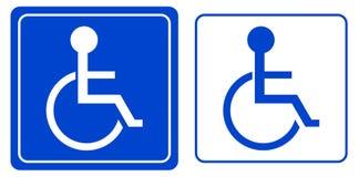 Desvantagem ou símbolo da pessoa da cadeira de rodas ilustração stock