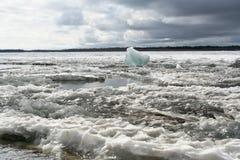 Desviación del hielo Foto de archivo libre de regalías