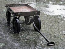 deszcz 2 czerwony wózek Fotografia Stock