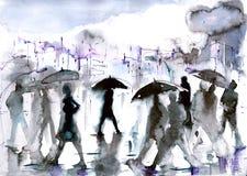 deszcz ilustracji