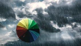deszcz drogę Fotografia Royalty Free