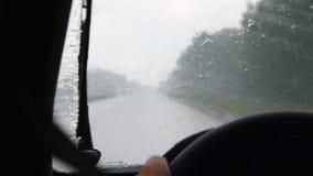 deszcz jazdy zdjęcie wideo