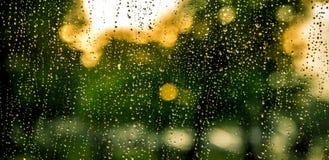 Deszcz krople na kamerze Zdjęcia Royalty Free